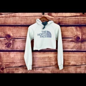 The North face crop top cropped hoodie sweatshirt